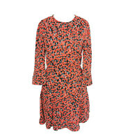 Whistles Red Chery Print Cute Kitsch Smart Party Fit & Flare Short Dress Size 8