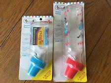 2 VTG Disney's Babies. Goofy Evenflo Angled Nurser Bottles 8&4 oz