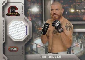 Jim Miller 2014 UFC Champions Fight Mat Relic