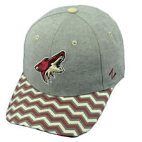 NHL Zephyr Arizona Coyotes Howl Zig Zag Print Curved Bill Gray Hat Cap Snapback