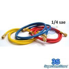 """3S FRUSTA TUBO FLESSIBILE PER GAS REFRIGERANTE R22 R407c R134A 1/4"""" SAE - COLORI"""
