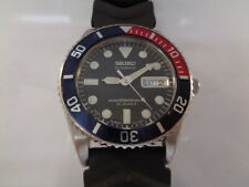 SEIKO DIVER MENS WATCH DAY & DATE AUTOMATIC 7S26-0050 SKX025J PEPSI MID SIZE
