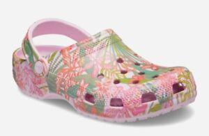 Vera Bradley Women's Ballerina Pink Rain Forest Crocs Shoes Size 6