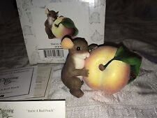 """Charming Tails """"YOU'RE A REAL PEACH"""" FITZ AND FLOYD MOUSE"""