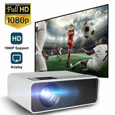 1080P FHD LED Mini Video Projector Home Cinema 8000 Lumens AV/USB/HDMI/TF/VGA