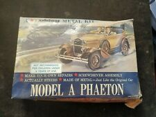 Vintage 1950's HUBLEY Metal Car Kit Model A Phaeton BOX LID ONLY