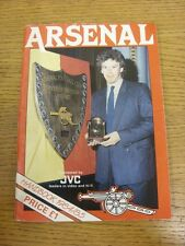 1984/1985 Arsenal: Official Handbook (slight marking to covers). Footy Progs (ak