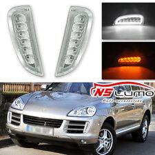 For Porsche Cayenne 2007-2010 LED DRL Daytime Running Light Yellow Turn Signal