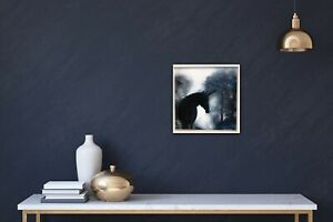 Sale MISTY FOREST UNICORN HORSE 1 50x50 Cms IN FRAME