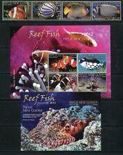Papua Neuguinea 2012 Fische Fishes Poissons Pesci 1757-64 Block 148 MNH
