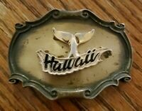 Vintage 1978 RainTree HAWAII All Metal Belt Buckle 2 1/2 X 3 3/4""