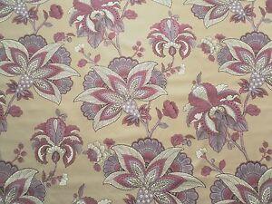 Manuel Canovas Curtain Fabric BAYONNE (Prune) 5.25m Floral Design 525cm
