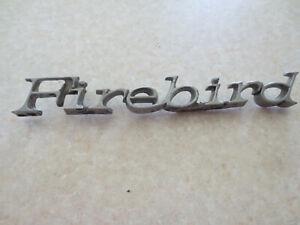 Original Pontiac Firebird metal car badge / emblem - - - -
