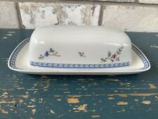 New listing Oneida The Select Collection Blue Lattice Butter Dish Lid & Underplate