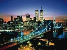 CITY THAT NEVER SLEEPS - NEW YORK POSTER 24x36 - SKYLINE NYC NIGHT BRIDGE 36026