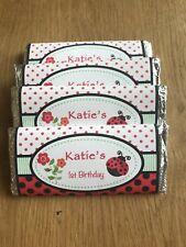 LadyBug Personalised Chocolate Wrappers for Birthday, Baby Shower, Christening