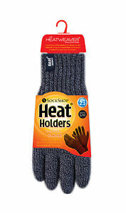 Ladies Cable Knit 2.3 tog Heatweaver thermal Gloves by Heat Holders Blue