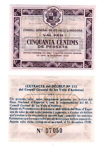 - Paper Reproduction - Andorra 50 centimes centimos 1936 Pick#5   599