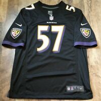 NFL Baltimore Ravens CJ Mosley #57 Nike On Field Jersey Size L Large Color Black