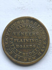 1835 Hard Times Token: Fobes & Barlow Sashes, Blinds & Sawing Veneers  New Haven