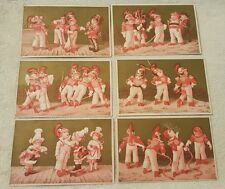 Lot of 6 Antique Vintage Victorian Trade Cards Children Calling Cards Collector
