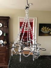 Crystal candle chandeliers ebay gorgeous crystal bronze votive chandelier aloadofball Image collections