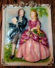 GoRgEoUs Antique Chalkware Wall Plaques- Rare