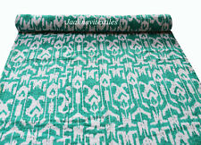 Indian Handmade Kantha New Cotton Qulit Bedding Bedspread Flower Print Ralli