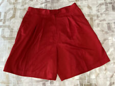 Bette & Court Womens Shorts Red Pleated Pocket 14