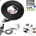 RJ45 CAT7 Network Ethernet SSTP 10Gbps Gigabit Ultra- Patch LAN Flat Cable lot