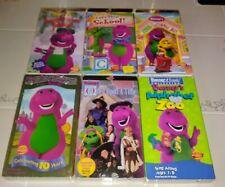 6 VHS Barney Lets Play School Imagination Island Sing & Dance Sense-Sational Day