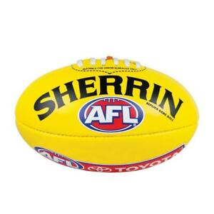 AFL Replica Game Ball - Yellow Size 5 Football From Sherrin