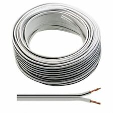 100 Metre Drum White Speaker Cable Audio - Suitable for Home & Car