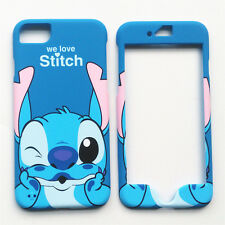 Hot Cartoon Disney Lilo And Stitch Front & Back Case Cover for iPhone 7 4.7""