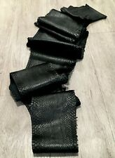 "Genuine Python Snake Skin Hide Pelt Black 2.45 Meters 97"" x 9"" Arts & Crafts"