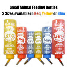 NEW Classic Small Animal Drinking Bottle Red Blue Yellow Hamster Rabbit Mice