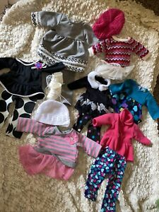 """Lot Of 15 Pcs Doll Clothes For 18"""" Doll Fits American Girl, Batt At, OG Outfits"""