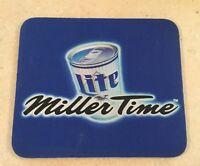 Vintage Miller Time Mouse Pad (Miller Lite Mousepad) Beer