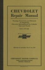 Chevrolet Car & Truck 1929 Shop Manual Chevy