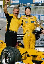 Giancarlo Fisichella Hand Signed B&H Jordan Ford Photo 12x8 Eddie Jordan.