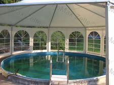 Festzelt Partyzelt Poolüberdachung Profizelt / 8eck 53m² / Farbe nach Wahl