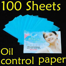 100 Sheets Oil Control Absorption Blotting Facial Paper/TISSUE Skin Care  YH