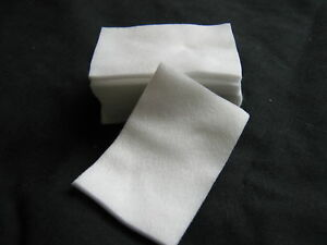 200 x WHITE  LINT FREE NAIL WIPES - ACRYLIC/GEL/NORMAL