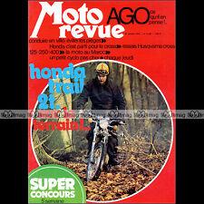 MOTO REVUE N°2158 HUSQVARNA 125 250 400 CROSS HONDA MT 125 ELSINORE MALAGUTI '74