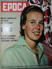 EPOCA N°520/ 18/SET/1960 - MARIA GABRIELLA SPOSERA' UN ITALIANO ? - KENNEDY -