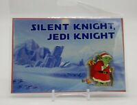 "Yoda Santa Star Wars ""Silent Knight Jedi Knight"" Trading Pin Greeting Card NEW"