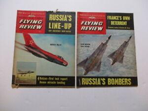Job Lot of 2 R.A.F. Flying Review Jan/Feb 1963 - Saab Draken, MIG 19