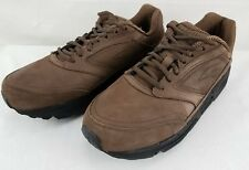 Brooks Addiction Walker Mens Brown Leather Athletic Shoes Size 9 EE Wide