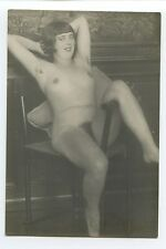 Young Flapper German Austrian FULL Nude original c1920s Gelatin Silver photo d05