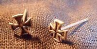 Eisernes Kreuz Freimaurer Biker Ohrstecker Ohrring 925 echt Silber OS 67